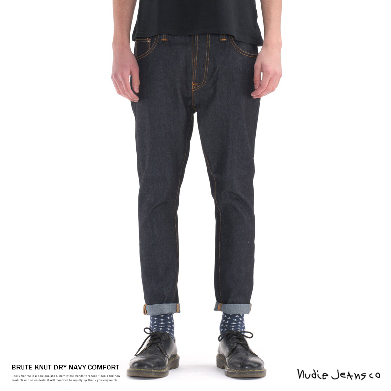 【Nudie Jeans/ヌーディージーンズ】BRUTE KNUT DRY NAVY COMFORT◆7064