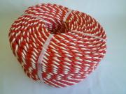 紅白ロープ ポリエチレン赤/白 直径9mm(切り売り)メートル単位 最大100M