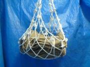 ロープモッコ ビニロンロープ 1m×1m マスク型
