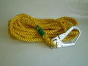 親綱ロープ ポリエステルロープ 黄 16mm×10m