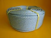 ダイヤスーパーPPロープ GG色青線入り 直径12mm(200メートル巻き)
