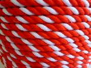 紅白ロープ アクリル赤/白 直径9mm(切り売り)メートル単位 最大100M