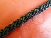 ポリエステルマルチクロスロープ 黒色 直径16mm(切り売り品)メートル単位 最大200mまで