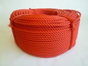 ポリエチレンロープ 赤色 直径6mm(200メートル巻き)