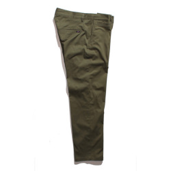 Stretch 9 length tapered chino
