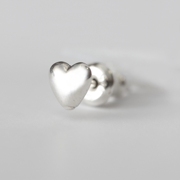 グレネードハートピアス / Grenade Heart Pierced Earring Plain