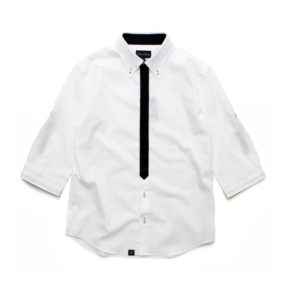 basic minimal tied 7s roll up shirt