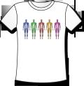 【高品質TシャツにCGイラストをプリント】 解剖学Tシャツ - 五色の筋肉 (グッズ)