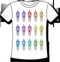 【高品質TシャツにCGイラストをプリント】 解剖学Tシャツ - 十五色の筋肉 (グッズ)