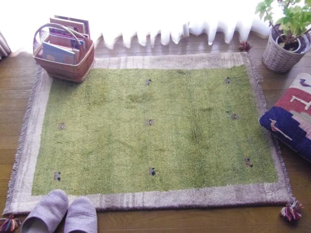 【上質クオリティ】遊牧民のじゅうたん ギャッベ(ラグサイズ小 約123×86cm) 752