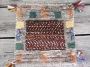 ギャッベ(正方形ミニサイズ) 遊牧民のじゅうたん 5868