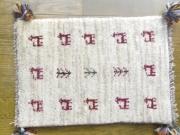 遊牧民のじゅうたん ギャッベ(玄関マットサイズ小 約60×40cm) P1139