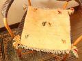 ギャッベ(正方形ミニサイズ) 遊牧民のじゅうたん 5049