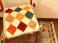 ギャッベ(正方形ミニサイズ) 遊牧民のじゅうたん 5054