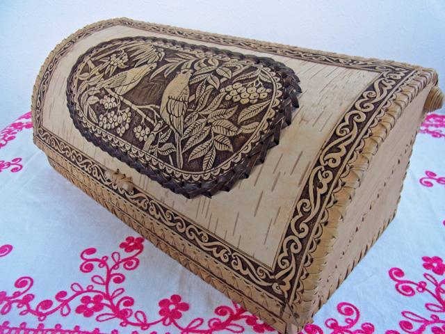 鳥とななかまど☆ベレスタのパンケース☆白樺細工_【ロシア雑貨のカチューシャ】