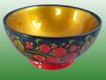 かわいいホフロマの鉢140-1☆ロシアの漆塗り【ロシア雑貨のカチューシャ】