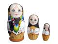 グスリッツァクラシック★コブロフstudio☆マトリョーシカ3ピース【ロシア雑貨のカチューシャ】