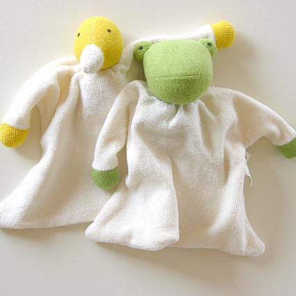 ニキティキ ほおずり人形タオル かえる あひる