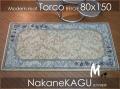 ★トルコ玄関マットふかふか厚みタップリ15mm-beige80x150