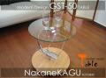 ◆シンプルモダン◆ガラス丸テーブル★GST50★