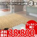 【送料無料】■AS 高級感溢れるデザイン♪ヨーロピアンカーペット江戸間3畳(176x261)絨毯●アスグレース全3色