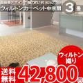 【完売】■AS 高級感溢れるデザイン♪ヨーロピアンカーペット中京間3畳(182x273)絨毯●アスグレース全3色