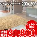 【送料無料】■AS 高級感溢れるデザイン♪ヨーロピアンカーペット (ラグ 200x200) 絨毯●アスグレース全3色