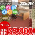 ■高級ウール100%♪防ダニ抗菌エコカーペット (ラグ200×250)ソフトな肌触りが魅力な絨毯●カラー全6色・日本製 アスメロディ2