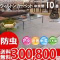 【送料無料】■AS 新毛 ウール100%アスパレス 10畳 快適 カーペット♪オーナメント柄 中京間10畳(364x455)全2色