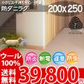 【送料無料】■AS 新毛ウール100%ニューアスノーブル快適ラグ♪選べる8Color☆200x250 全8色