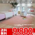 【送料無料】■AS ふかふかした踏み心地♪撥水 カーペット 中京間2畳(182x182)アスソレイユ●全6色絨毯・日本製