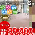 【送料無料】■AS カラバリ豊富8色♪新毛ウール 100% カーペット 中京間6畳(273x364)アドニス●全8色