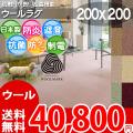 【送料無料】■AS カラーバリエーション豊富♪新毛ウール100%カーペット(ラグ200×200)アドニス●全8色