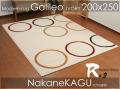 ●モダンcircleラグ●ガリレオ●アイボリー200x250 約3畳カーペットcarpetrug