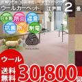 【送料無料】■AS カラーバリエーション豊富♪新毛ウール100%カーペット 江戸間2畳(176x176)アドニス●全8色