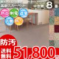 【送料無料】■AS カラーバリエーション豊富♪消臭抗菌エコカーペット 中京間8畳(364x364) アスシャリオ2