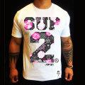 SUP2 Tシャツ Techno Blossom ホワイト
