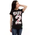 SUP2 Tシャツ NANA ブラック レディス
