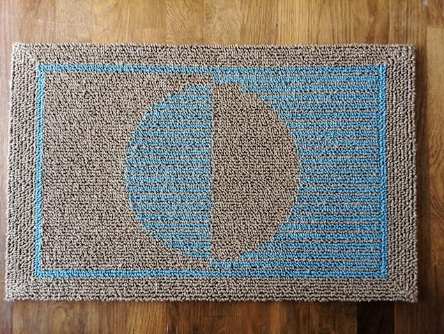 片身変わり紋 藍麻