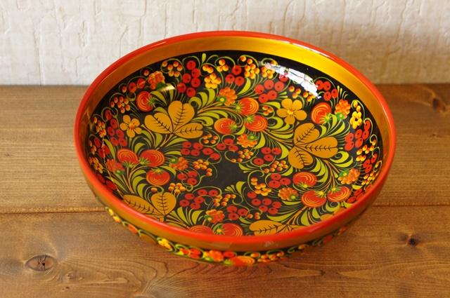 ホフロマ塗り イチゴ&ベリー 両面柄入り大鉢 φ20×8cm