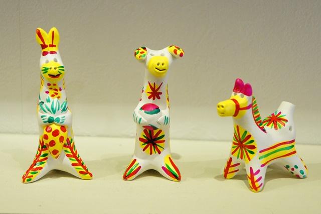 フィリモーナヴァ土笛人形 <ウサギ、イヌ、ウマ>