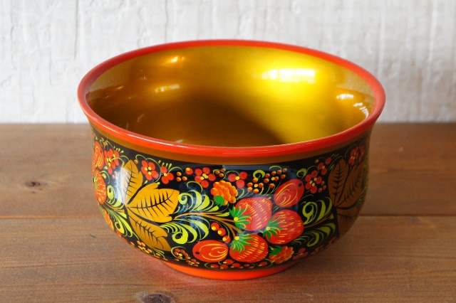 ホフロマ塗り イチゴ&ベリー深鉢 φ16×9cm