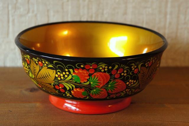 ホフロマ塗り イチゴ&ベリー大鉢 φ18×8cm
