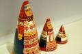 ダラフェエヴァ作 民族衣装 三角マトリョーシカ 3ピース<カルーガ、オリョール、リャザン> /15cm