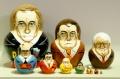 ロシア最高権力者(大統領&書記長&皇帝) プーチン大統領バージョン(M) 10ピースマトリョーシカ
