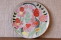 安藤喜代子 お花がいっぱい!彩・丸皿(大)<ピンク> φ23cm