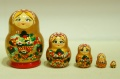 チェーホヴァ作 イチゴがいっぱい!ダルマ型ミニマトリョーシカ 5ピース /4.5cm