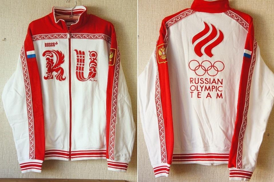 【予約販売】Bosco sport(ボスコスポーツ) ソチ五輪・ロシア代表選手団 公式ジャージ上着<RU> 男性用 【ユーリ!!!on ICE】【送料無料】