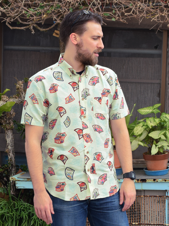 琉球ボタンダウンシャツ石畳