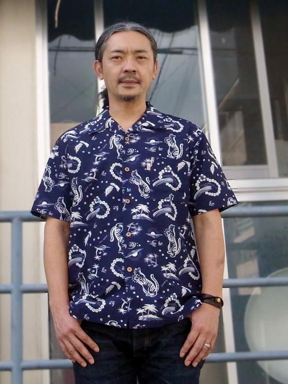 琉球ボタンダウンシャツUGAMI CAT